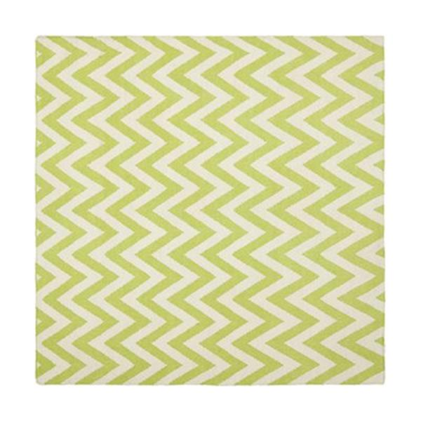 Safavieh Dhurries Green and Ivory Area Rug,DHU557A-6SQ