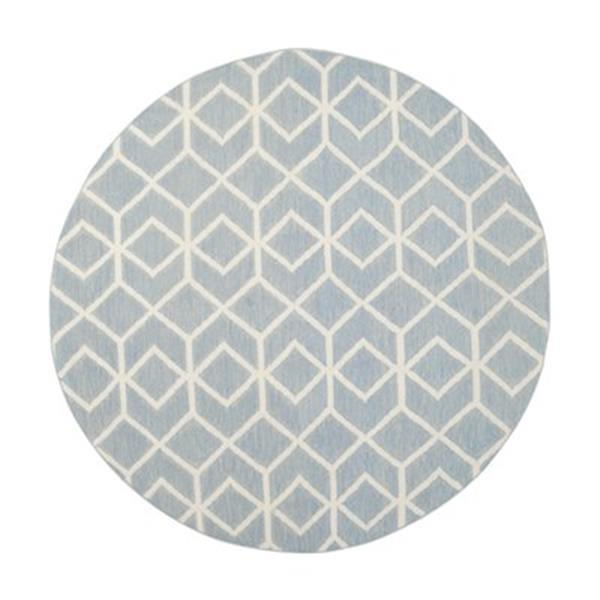 Safavieh Dhurries Blue and Ivory Area Rug,DHU560A-6R