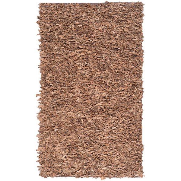 Safavieh Leather Shag Brown Area Rug,LSG511K-5