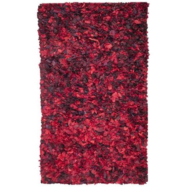 Safavieh SG951E Shag Area Rug, Red / Multi,SG951E-5