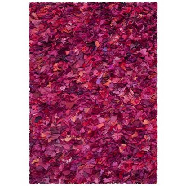 Safavieh Shag Fuchsia and Multi-Colored Area Rug,SG951F-5