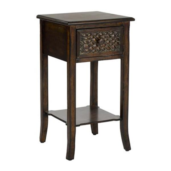 Safavieh Ernest 25.8-in Brown End Table