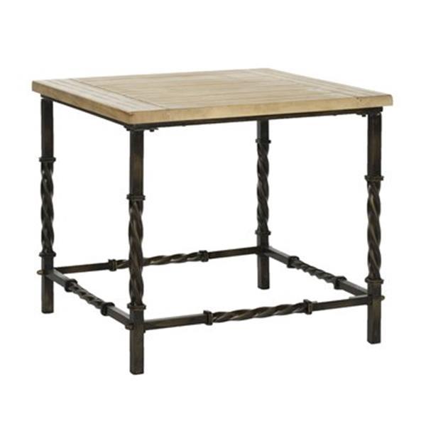 Safavieh Tonya 23.4-in Natural Fir Side Table