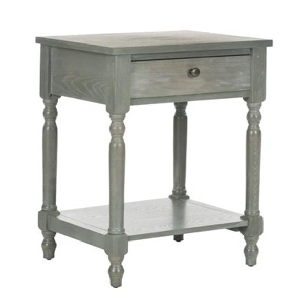 Safavieh Tami 25-in Ash Grey Elm End Table