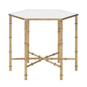 Safavieh Kerri 17-in Gold/Mirror Glass Accent Table