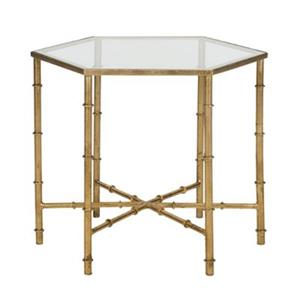 Safavieh Kerri 17-in Gold/Clear Glass Accent Table