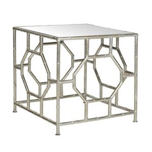 Safavieh Rory 19-in Silver/Mirror Accent Table