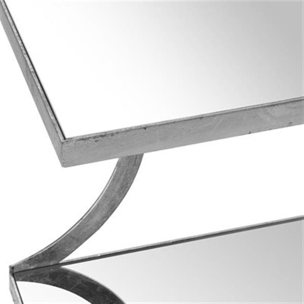 Safavieh Sullivan 18-in Silver/Mirror Accent Table