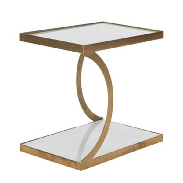 Safavieh Sullivan 18-in Gold/White Glass Accent Table