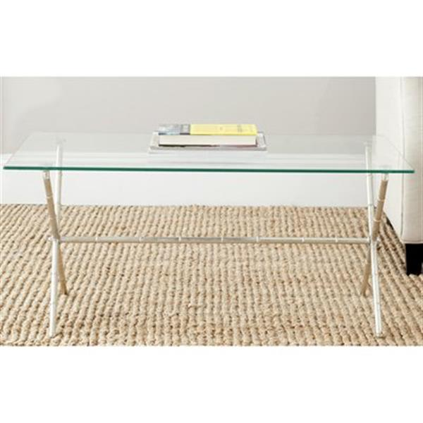Safavieh Brogen Silver/Clear Accent Table