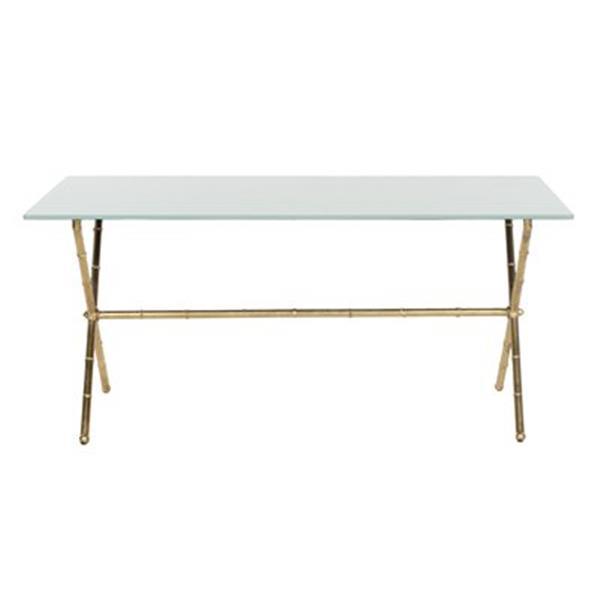 Safavieh Brogen Gold/White Accent Table