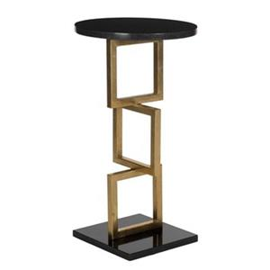 Safavieh Cassidy 23.2-in Gold/Black Marble Accent Table