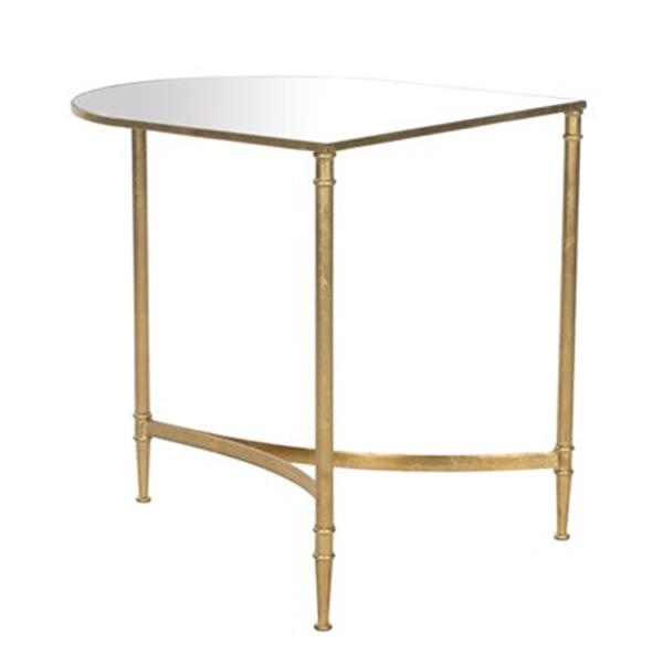 Safavieh Nevin 20-in Gold/Mirror Accent Table