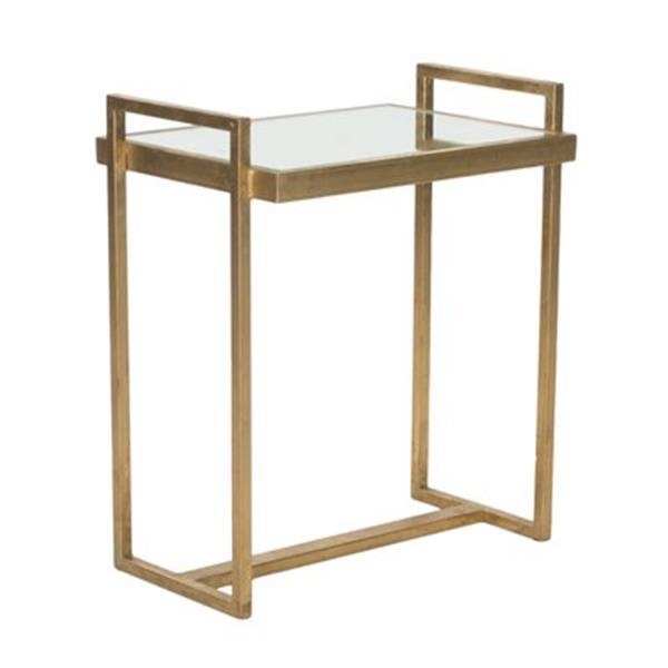 Safavieh Noland 20-in Gold/Mirror Accent Table