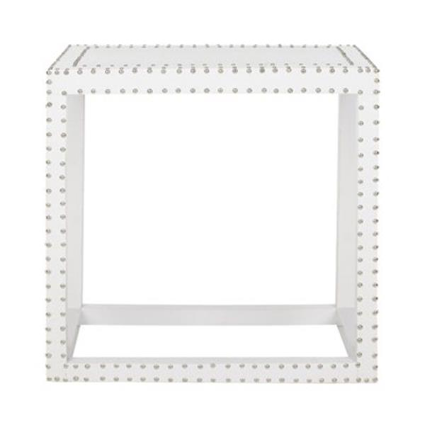 Safavieh Lena 23.6-in White End Table