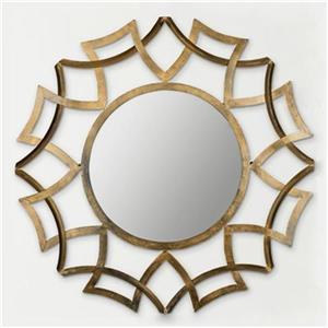 Safavieh Inca Sunburst 35-in x 35-in Antique Gold Mirror