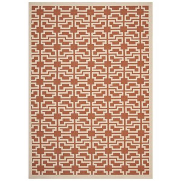 Safavieh Courtyard Terracotta and Beige Area Rug,CY6015-241-