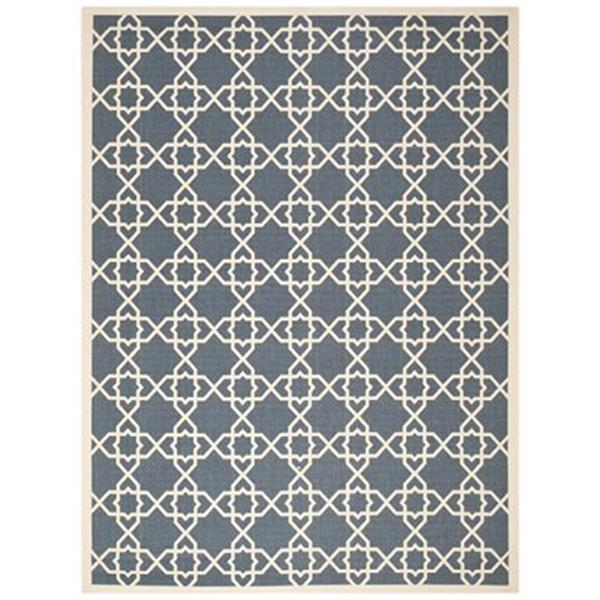 Safavieh Courtyard Navy and Beige Area Rug,CY6032-268-6