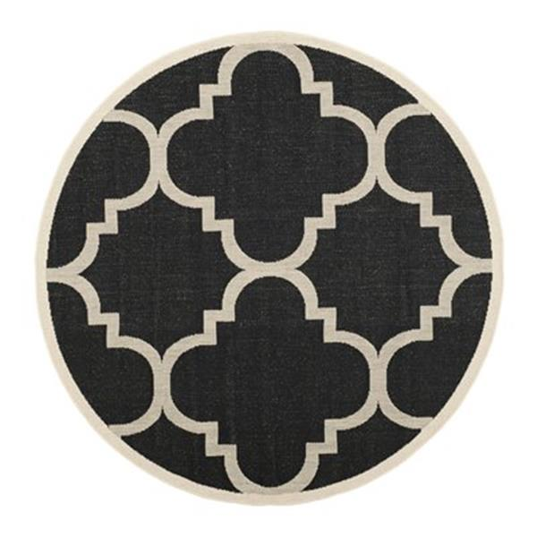 Safavieh Courtyard Black and Beige Area Rug,CY6243-266-8R