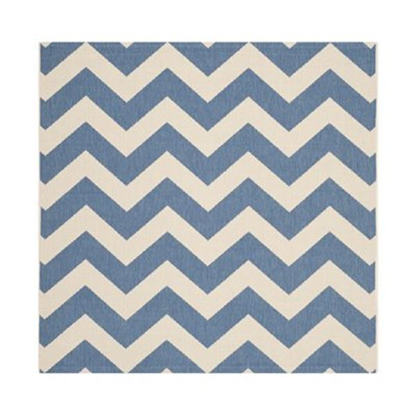 Safavieh Courtyard Blue and Beige Area Rug,CY6244-243-8SQ