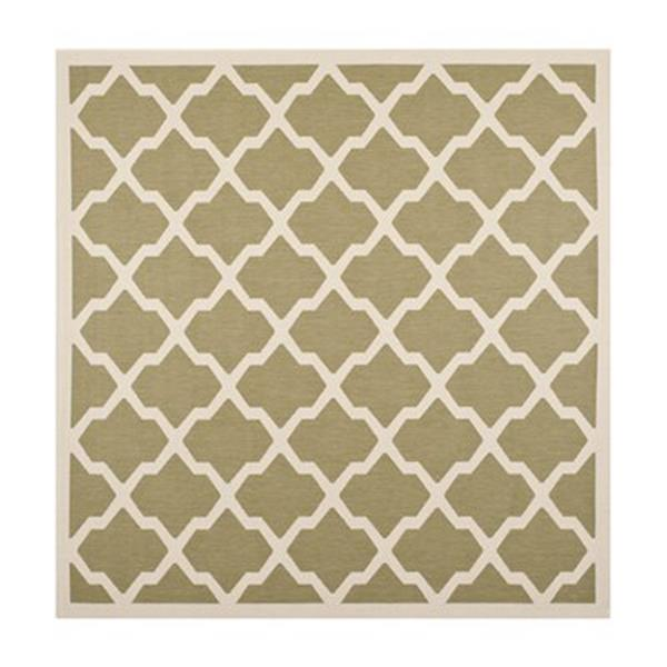 Safavieh Courtyard Green and Beige Area Rug,CY6903-244-8SQ
