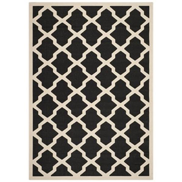 Safavieh Courtyard Black and Beige Area Rug,CY6903-266-6