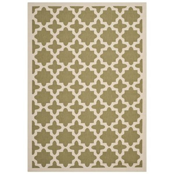 Safavieh Courtyard Green and Beige Area Rug,CY6913-244-6