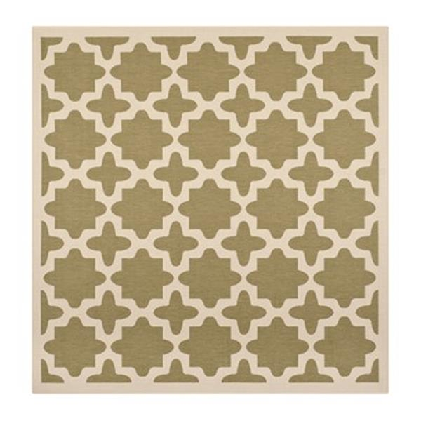 Safavieh Courtyard Green and Beige Area Rug,CY6913-244-8SQ