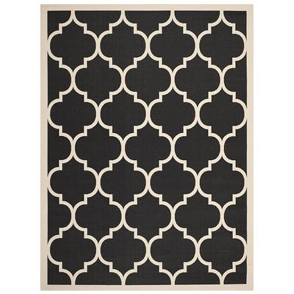 Safavieh Courtyard Black and Beige Area Rug,CY6914-266-6