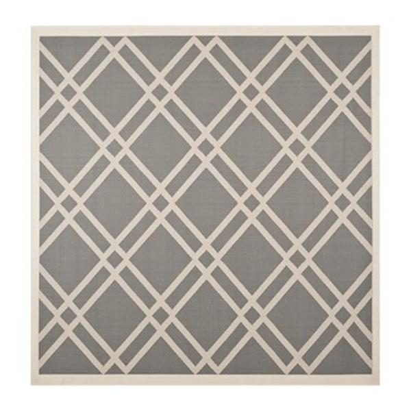 Safavieh Courtyard Anthracite and Beige Area Rug,CY6923-246-