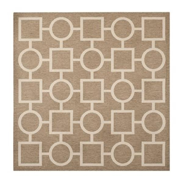 Safavieh Courtyard Brown and Bone Area Rug,CY6925-242-8SQ
