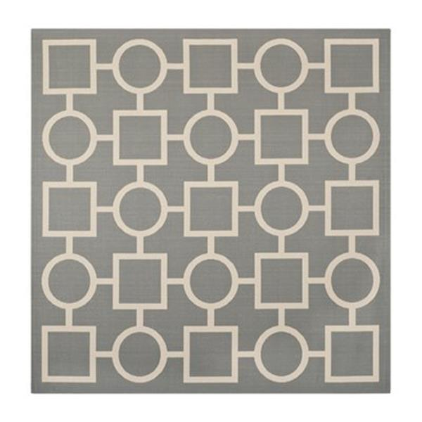 Safavieh Courtyard Anthracite and Beige Area Rug,CY6925-246-