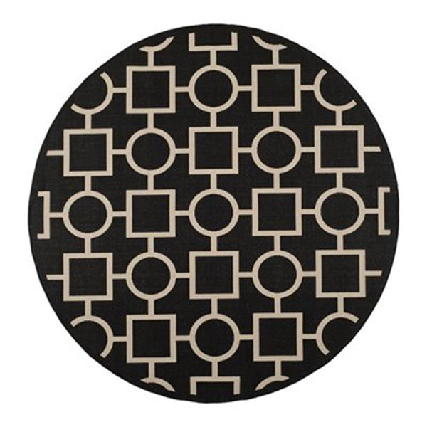 Safavieh Courtyard Black and Beige Area Rug,CY6925-266-8R