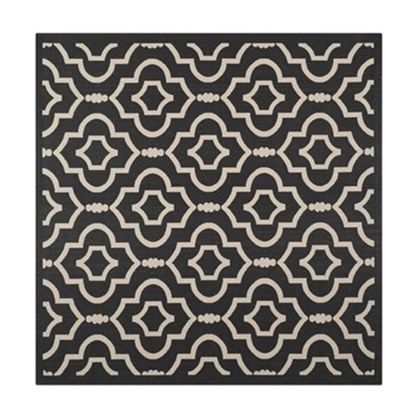 Safavieh Courtyard Black and Beige Area Rug,CY6926-266-8SQ