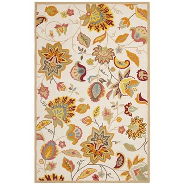 Safavieh FRS413B Four Seasons Ivory and Yellow Area Rug,FRS4