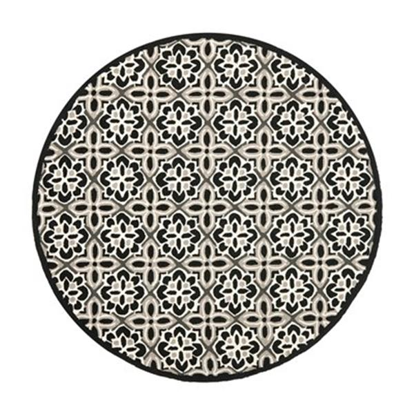 Safavieh FRS448A Four Seasons Area Rug, Black / Ivory,FRS448