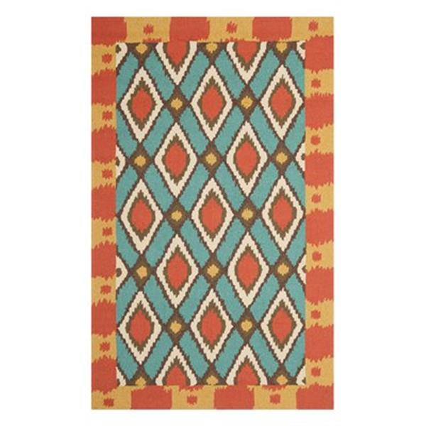 Safavieh Four Seasons 5 ft x 8 ft Light Blue and Red Area Rug