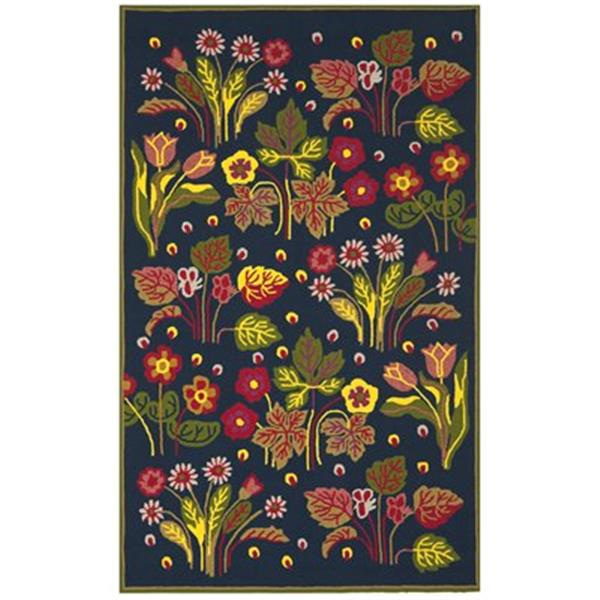 Safavieh Four Seasons 5 ft x 8 ft Navy and Green Area Rug