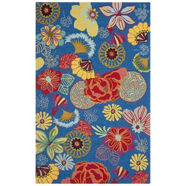 Safavieh Four Seasons 8-ft x 5-ft Blue and Red Area Rug