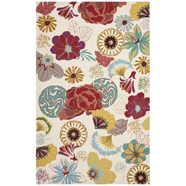 Safavieh Four Seasons 8-ft x 5-ft Ivory and Red Area Rug