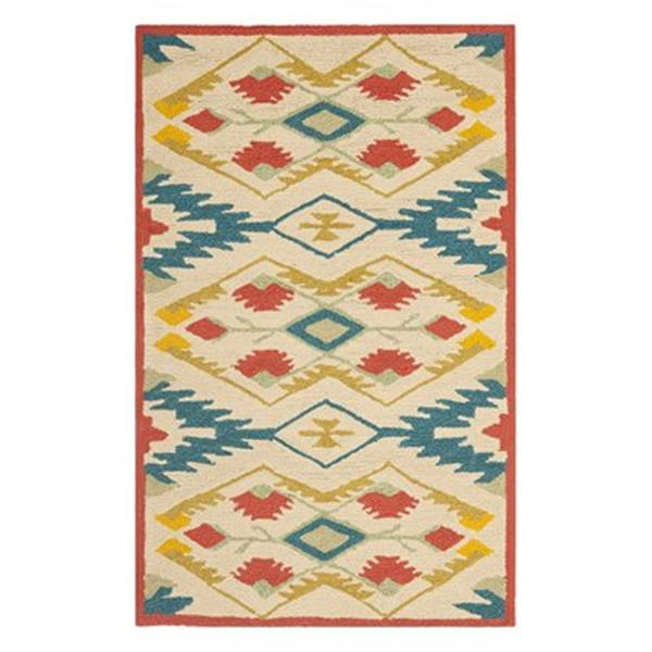 Safavieh Four Seasons 6-ft x 6-ft Natural and Blue Area Rug
