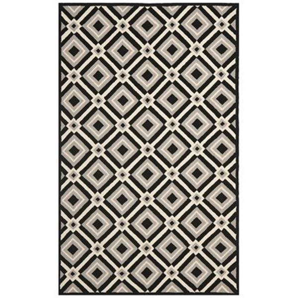 Safavieh Four Seasons 8-ft x 5-ft Black and Grey Area Rug