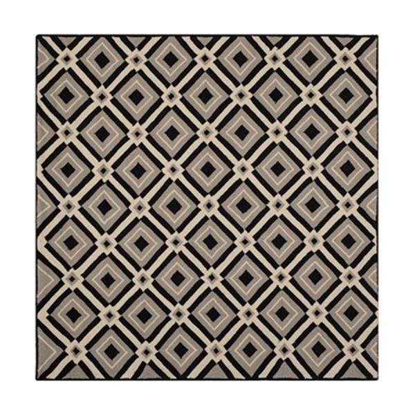 Safavieh Four Seasons 6-ft x 6-ft Black and Grey Area Rug