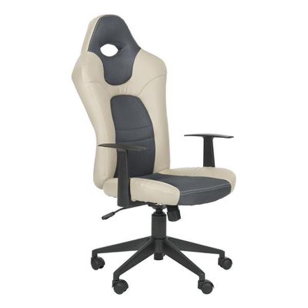 Safavieh 40.2-in Grey Belinda Desk Chair