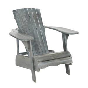 Safavieh 32.7-in x 37.4-in Ash Grey Mopani Chair