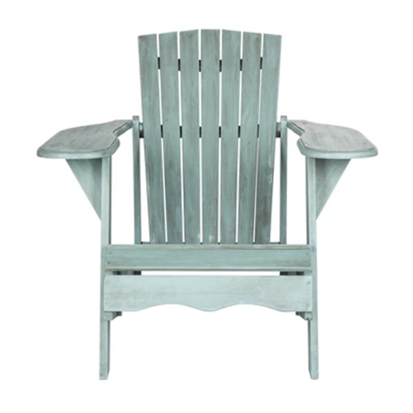 Safavieh 32.7-in x 37.4-in Beach House Blue  Mopani Chair