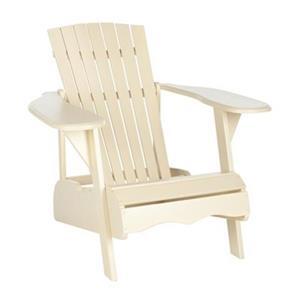 Safavieh 32.7-in x 37.4-in Off-White Mopani Chair
