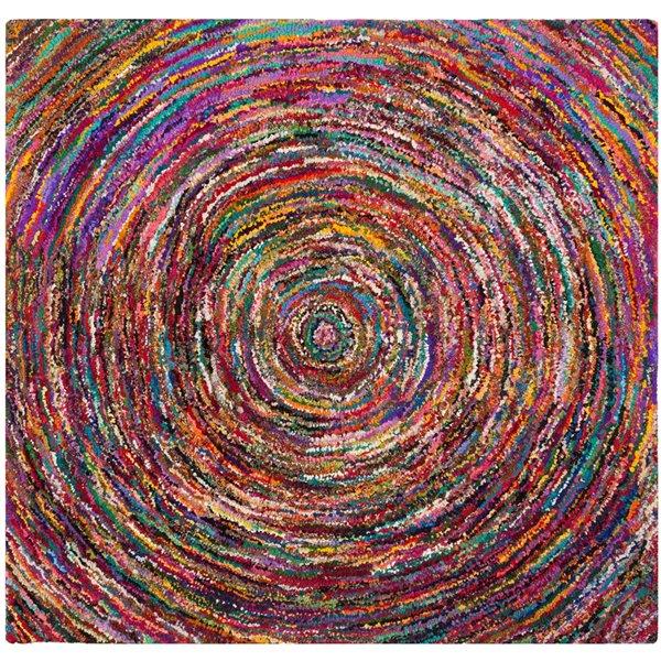 Safavieh Nantucket Multi-Colored Area Rug,NAN315A-6SQ