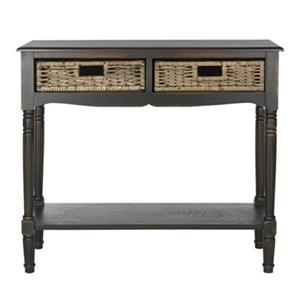 Safavieh Corbin 2-Drawer Rectangular Brown Pine Console Table