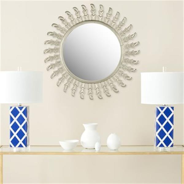 Safavieh Inca Sun 32-in x 32-in Pewter Mirror